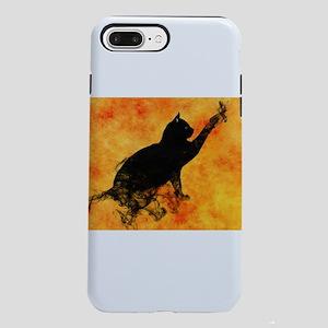 Smokey Cat on Orange iPhone 8/7 Plus Tough Case