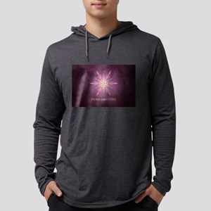 Pink Merry Christmas Snowflake Long Sleeve T-Shirt