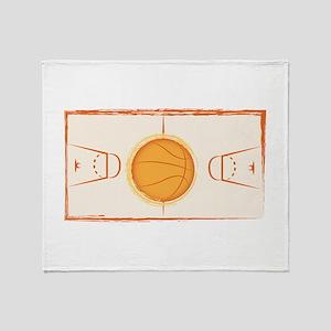 Basketball Court Throw Blanket