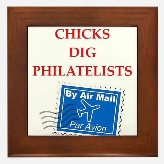 philatelist Framed Tile
