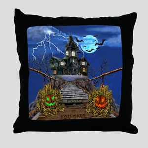 Enter If You Dare Throw Pillow