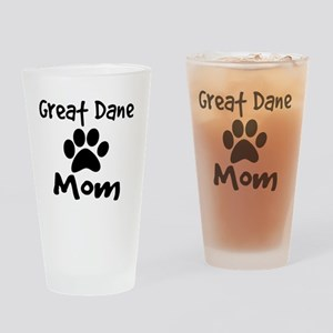 Great Dane Mom Drinking Glass