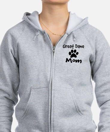 Great Dane Mom Zip Hoodie
