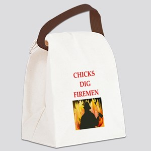 fireman Canvas Lunch Bag