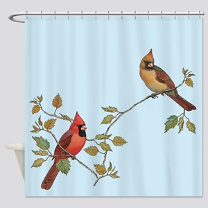 Cardinal Couple Shower Curtain