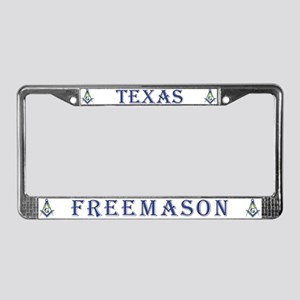 Texas Freemason License Plate Frame