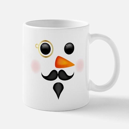 Fancy Snowman Face Mugs