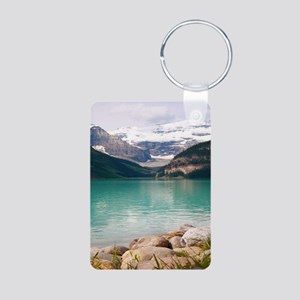 mountain landscape lake louise Keychains