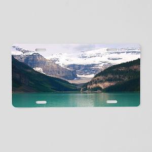 mountain landscape lake lou Aluminum License Plate