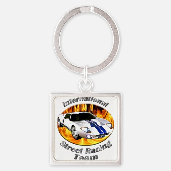 Ford GT40 Square Keychain