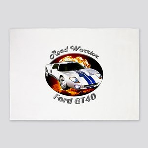 Ford GT40 5`x7`Area Rug