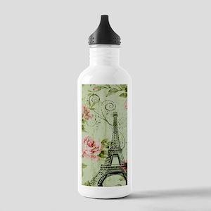 floral vintage paris e Stainless Water Bottle 1.0L