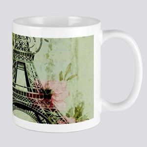 floral vintage paris eiffel tower Mugs