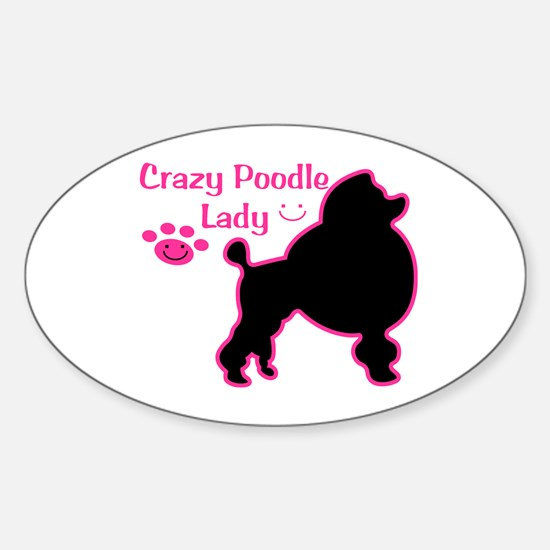 Crazy Poodle Mom Decal