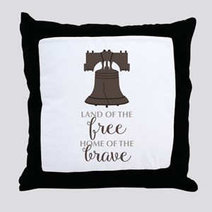 Land Of Free Throw Pillow