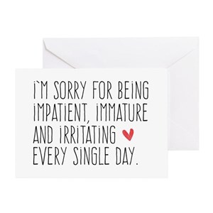 Sorry greeting cards cafepress m4hsunfo