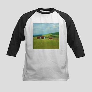 rustic rural farm landscape Baseball Jersey