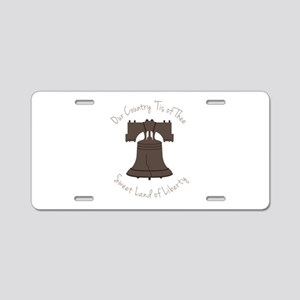 Land Of Liberty Aluminum License Plate