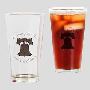 Land Of Liberty Drinking Glass