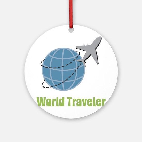 World Traveler Round Ornament