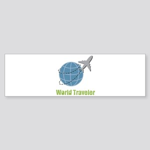 World Traveler Bumper Sticker