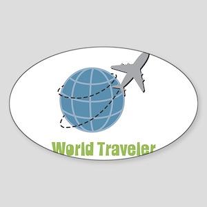 World Traveler Sticker