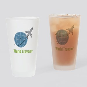 World Traveler Drinking Glass