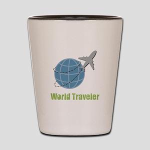 World Traveler Shot Glass