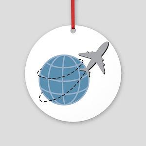 World Travel Round Ornament