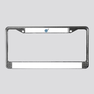 World Travel License Plate Frame