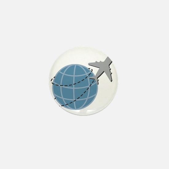 World Travel Mini Button