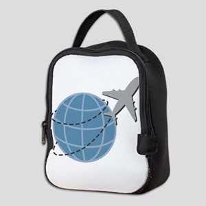 World Travel Neoprene Lunch Bag