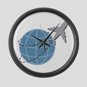 World Travel Large Wall Clock