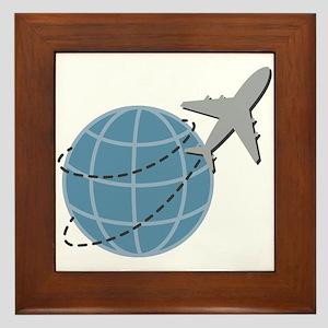 World Travel Framed Tile