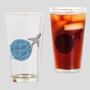 World Travel Drinking Glass