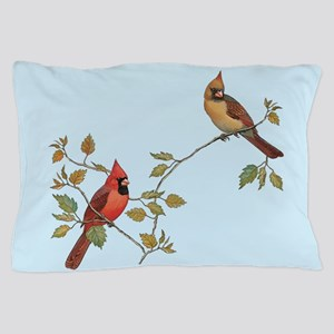 cardinal couple Pillow Case