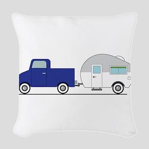 Truck & Camper Woven Throw Pillow