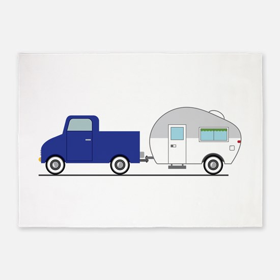 Truck & Camper 5'x7'Area Rug