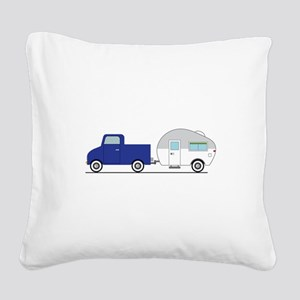 Truck & Camper Square Canvas Pillow