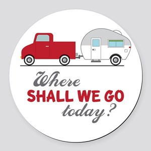 Where Shall We Go Round Car Magnet