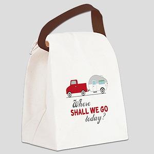 Where Shall We Go Canvas Lunch Bag