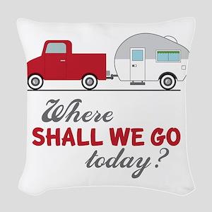 Where Shall We Go Woven Throw Pillow
