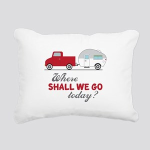 Where Shall We Go Rectangular Canvas Pillow