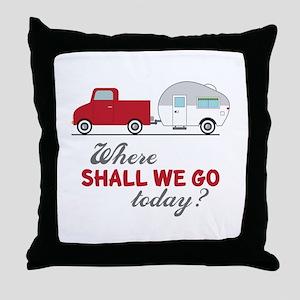 Where Shall We Go Throw Pillow