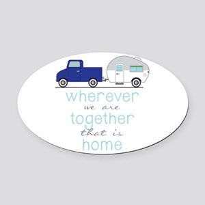 That Is Home Oval Car Magnet
