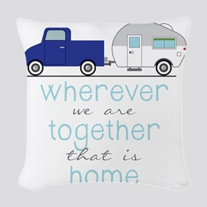 That Is Home Woven Throw Pillow