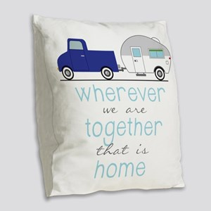 That Is Home Burlap Throw Pillow