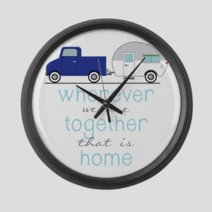 That Is Home Large Wall Clock
