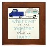Camper trailer Framed Tiles