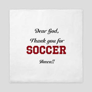 Thank God for Soccer Queen Duvet